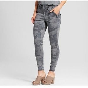 Mossimo Gray camo high waisted jean legging